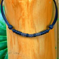 Surferkette Lederkette Halskette mit Edelstahl Perlen Herrenkette Damenkette Top