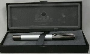 Monteverde Ritma Silver & Gunmetal Fountain Pen - Fine Nib - New Model!