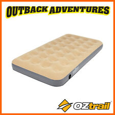 OZTRAIL TWIN SINGLE VELOUR AIR BED  INFLATABLE MATTRESS KING SINGLE NEW MODEL
