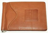 Berman Leather Bank Forward Money Clip Credit Card Holder