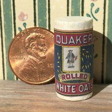 Dollhouse miniature Food 1:12 Vintage label Rolled White Oats NEW