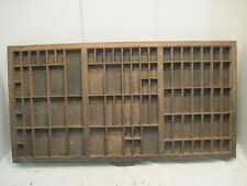 D1 Old Printer Tray Hamilton Ink Drawer Wood Shadow Box Nick Knack Shelf