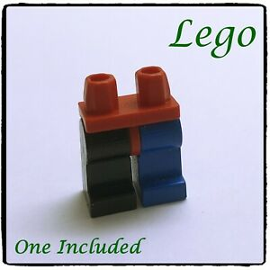 LEGO Minifigure Legs & Hips Complete, Plain, Red, Black & Blue ~1 included~