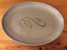 """DENBY PEASANT WARE 10"""" by 7"""" OVAL PLATTER - Rare  Looks New - Hand Painted!!"""