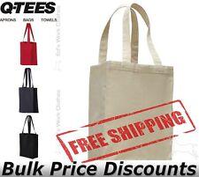 Q-Tees 12Lt Canvas Gusset Shopping Tote Bag Q1000 10x14x5