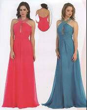 10 COLOR LONG PAGEANT PROM COCKTAIL DRESS HOMECOMING EVENING FORMAL GOWN 4 TO 20
