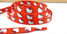 HELLO KITTY RED SHOELACES Kids Flat Shoe Laces 1 PAIR CARTOON SL6