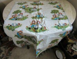 Vintage Raggedy Anne vinyl child's play table cloth