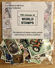 COLLECTION OF 100 WORLD STAMPS, USED, & OLD