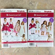 American Girl 18 inch Doll Clothes Sewing Outfits Uncut Patterns SIMPLICITY NEW