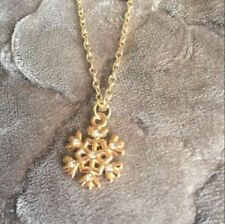 NEW Christmas Snowflake Pendant XMas Snow Charm Necklace Gold Chain Jewelry Gift