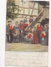 Badische Volkstrachten Renchthaeler aus Oedsbach Oberkirch 1904 Postcard 373a