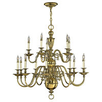 Hinkely Lighting Cambridge 15lt Chandelier 15 x 40W E14 220-240v 50hz Class I