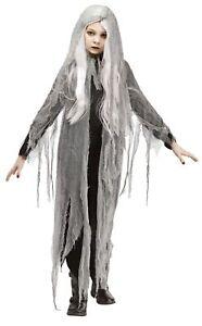 Gauze Ghost Child Girls Costume Size Large 12-14 NEW Dress Wig