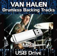 VAN HALEN MP3 ROCK DRUMLESS DRUMS BACKING TRACKS COLLECTION ON USB