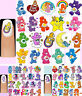 60x CARE BEARS Original, Modern or Cousins Nail Art Decals + Free Gems Carebears