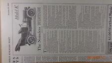 1905 NOISELESS Winton Model K  PRINT  Magazine Ad