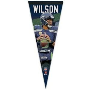 """RUSSELL WILSON SEATTLE SEAHAWKS PREMIUM QUALITY PENNANT 12""""X30"""" BANNER"""