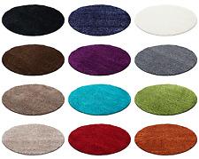 Hochflor Shaggy Rund Teppiche für Wohnzimmer, Esszimmer. Gästezimmer mit 30 mm F
