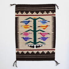 NATIVE AMERICAN NAVAJO TREE OF LIFE RUG BY TRINA BAHE NATIVE AMERICAN