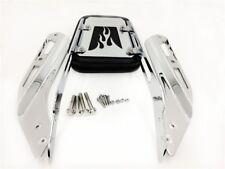 Chrome Flame Backrest Sissy Bar with Leather Pad For Honda VTX 1300N 1300R 1300S
