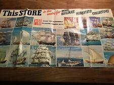Pyro Plastic Kits, American Market, Ships Advertising Poster 1966, Mega Rare.