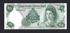 1974 CAYMAN ISLANDS $5 Dollars, P-6a, A/1 Prefix Desirable QEII Type, Orig. AU