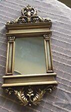 Syroco 1965 Gold Rectangle 17 X 8 Wall Mirror