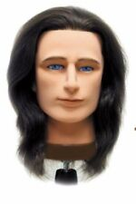 Celebrity Mr. Sam Cosmetology Human Hair Manikin with Holder