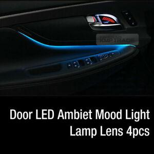 Door LED Ambiet Mood Light Lamp Lens 4pcs 5Color For HYUNDAI 2019 Santa Fe TM