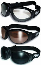 3 Padded ATV Motorcycle Goggles Googles + BAGS Copper Tinted Super Dark  Clear