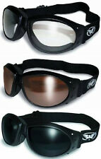 3 Motorcycle Offroad Goggles Googles + BAGS Copper Super Dark Clear Padded ATV
