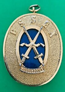 ESSEX - PAST PROVINCIAL ASSISTANT GRAND SWORD BEARER COLLAR JEWEL - masonic