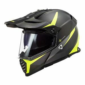 LS2 MX436 PIONEER EVO ADVENTURE MOTORCYCLE HELMET Mat Blk/Hi-Vis Yellow 3X-LARGE