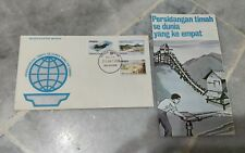 #2 Malaysia 1974 World Tin Conference Timah 3v stamp FDC brochure