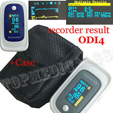 +Bag Pulse Oximeter Alarm Beep ODI4 Sleep Monitor 8hs Memory Recall SPO2 PR PI