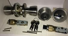 Mobile Home Entrance/Deadbolt Combo Lock Set Stainless Steel Finish Keyed Alike