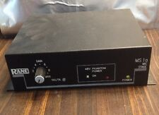 Rane MS 1A Mic Stage Preamplifier