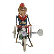 Vintage Wind Up Monkey Rider Riding A Car Clockwork Model Toy Collectibles