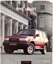 Toyota Previa & Land Cruiser II VX Edition 3 1992-93 UK Market Sales Brochure
