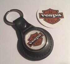 Vespa Scooters Genuine Leather Key Ring &  Vespa Sticker