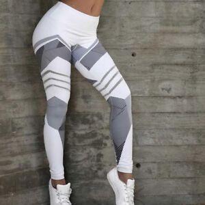 Womens Yoga Pants High Waist Push Up Leggings Running Pants Scrunch Trousers DSM