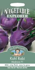 Mr Fothergills - Pictorial Packet - Vegetable - Kohl Rabi Modrava F1 - 75 Seeds