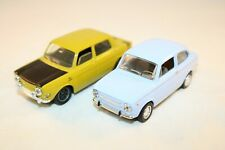 Lot Solido Simca 1000 Rallye / Fiat 850 1:43 in mint all original condition 2PCS