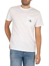 Calvin Klein Jeans Men's Monogram Pocket T-Shirt, White