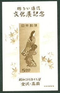 JAPAN  1948  KANAZAWA & TAKAOKA Comm. Exhib. BLOCK S/S Sk# C141 MINT MH