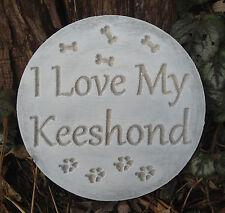 Keeshond dog mold garden ornament stepping stone