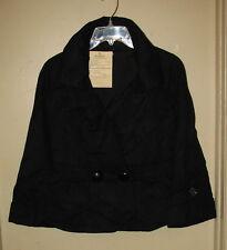Womens Short Wool Peplum Jacket  Black  M  NWT