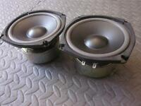 """NEW (2) 5.25""""  Woofer Shielded Speakers.5 1/4.4 ohm.Pin Cushion.five inch PAIR"""