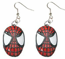 Huge Funky SPIDER-MAN MASK EARRINGS Punk Spiderman Cartoon Charm Costume Jewelry